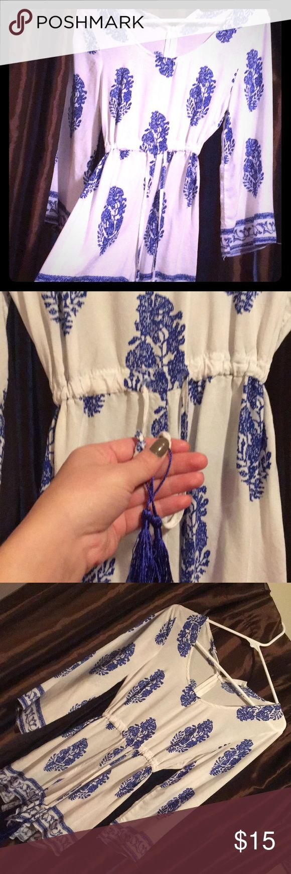 Small Zip up man made romper! Like new! Clean smoke and pet free home. Made for 2018 blue and white beautiful romper! Good for a small woman or teen! man made Dresses Mini