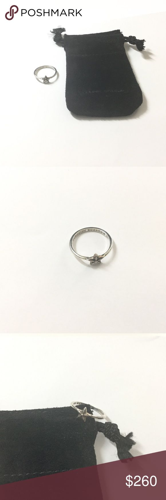 100% Authentic Chrome Hearts Star Silver Ring Purchased @ Chrome Hearts Vegas boutique. 100% authentic. Classic star ring. Size 6. Only worn once. **No trades** Chrome Hearts Jewelry Rings