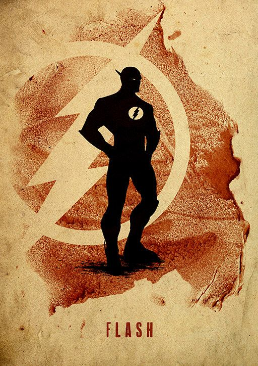 The Flash :: Justice League Minimalist Poster by moonposter on Etsy