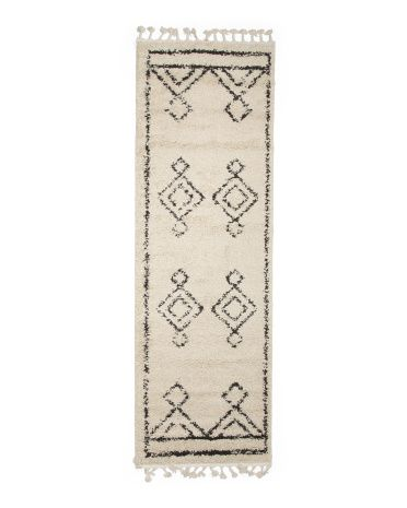 NULOOM Made In Turkey 2×8 Moroccan Diamond Runner
