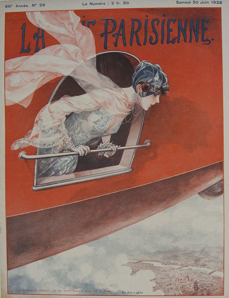 La Vie Parisienne - Vol de Pekin à Paris - June 1928 – Rue Marcellin Vintage French Posters and Prints