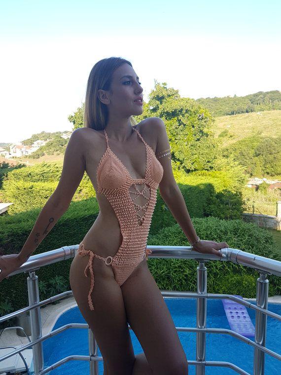 Gorgeous monokini thin yarn handmade crochet ❤ Check out this item in my Etsy shop https://www.etsy.com/listing/173852464/handmade-crochet-monokini-bikini-2017 #crochet #swimwear #bikinitrends #monokini #bikini #bikinilovers #miamibeach #cablebeach #daytonabeach #beverlyhills #lasvegas