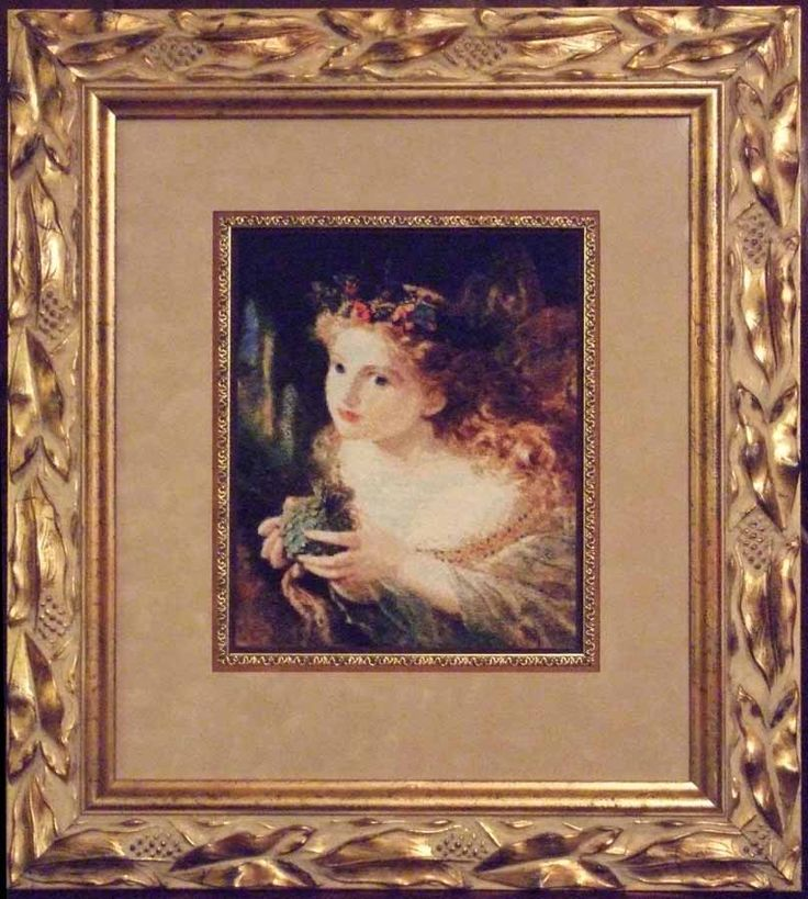 Take the Fair Face of Woman - Sophie Gengembre Anderson, 1869, chart by Scarlet Quince.  Stitced des 2008-sept 2009