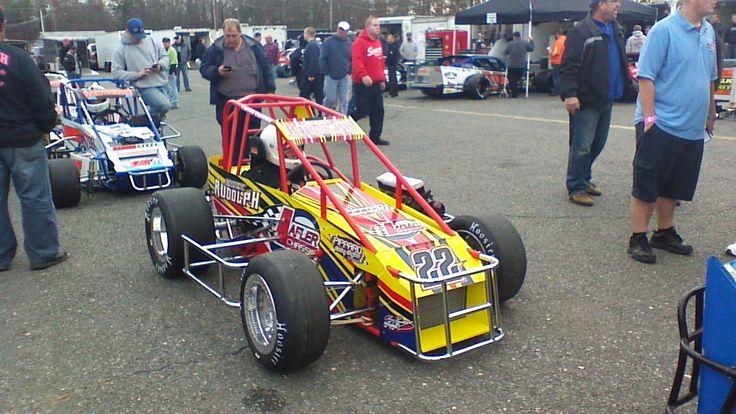 The TQ Midget of Erick Rudolph at Wall Stadium Speedway's
