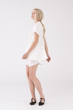 Fountain Top and Shorts in Ivory