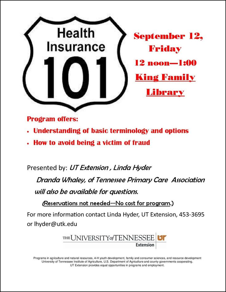 Health Insurance 101 King Family Library Meeting Primary Care
