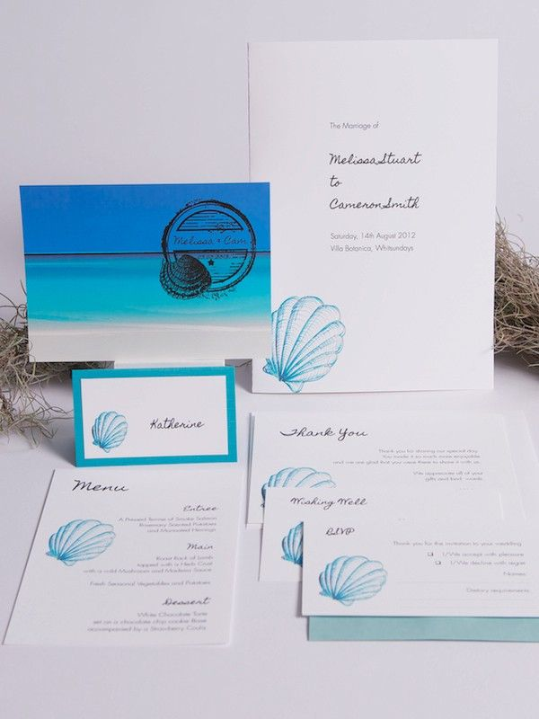 Paradise Collection - Beach Invitations - Themed Invitations   Red Wax Invitations