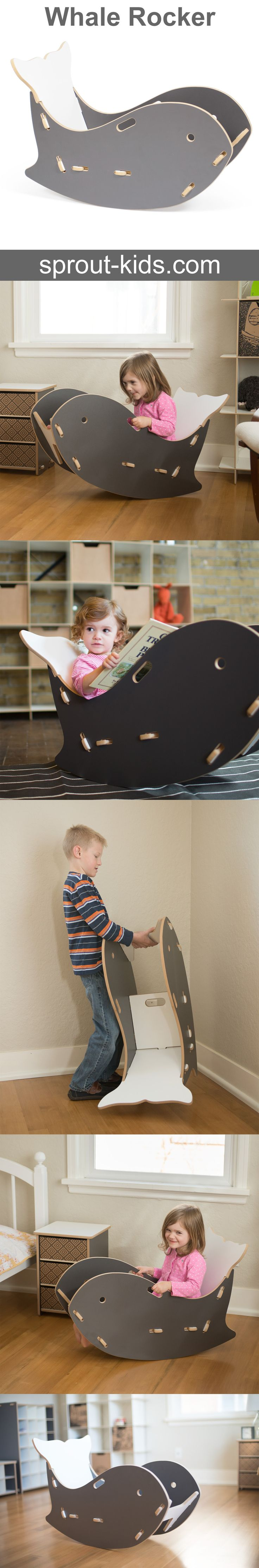 Kids love animals, and they love rocking. That  makes this Whale Kids Rocking Chair enjoyable for all kids! Specially designed for growth and safety, children can enjoy this chair for years!
