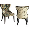 Peacock Tufted Dining Chair  Why does it have to cost so much? They are beautiful!Decor, Ideas, Desks Chairs, Peacocks Tufted, Dining Room Tables, Tufted Dining Chairs, Dining Room Chairs Pier 1, Furniture, Peacocks Chairs