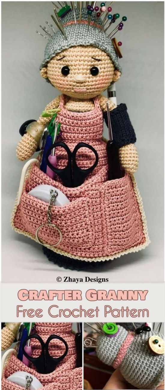 how to do Crafter Granny [Free Crochet Pattern]