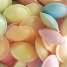 melt in the mouth flying saucers .. my friends and I use to compete to see who could keep one in their mouth the longest, before it melted away ... !