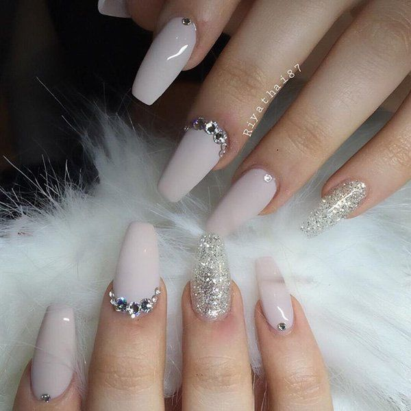 Best 25 nails with diamonds ideas on pinterest long nail 50 coffin nail art ideas prinsesfo Gallery