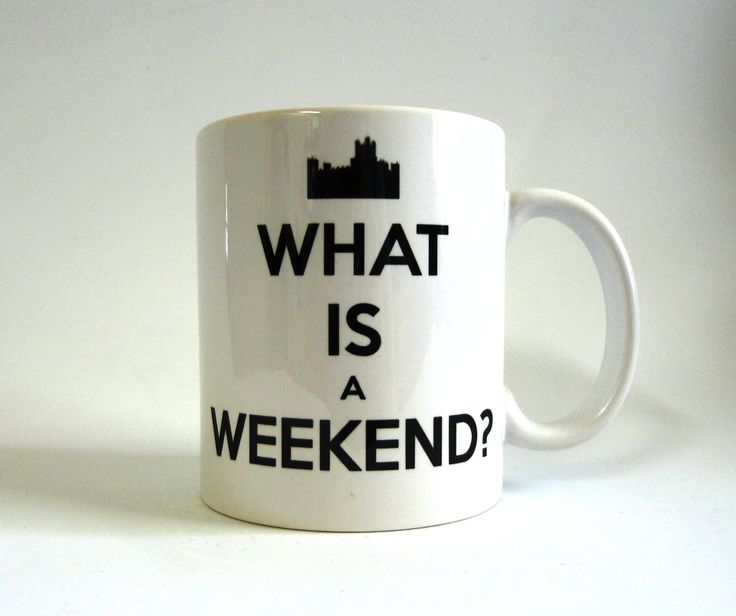 What is a Weekend White Ceramic Mug - Inspired by Downton Abbey. $15.00, via Etsy.