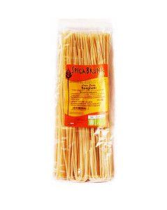 Spaghetti bio di grano duro senatore cappelli, a lenta essiccazione e lavorati a mano. Prodotti a Pietrelcina rispettano la filiera corta del grano e rientrano nei prodotti tipici pietrelcinesi.