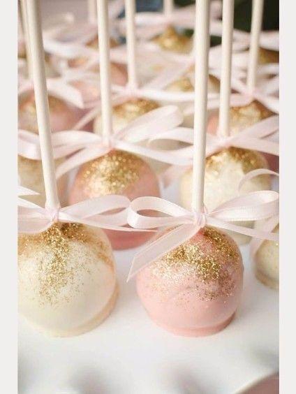 pop cake paillettes dorés pour le mariage                                                                                                                                                                                 Plus