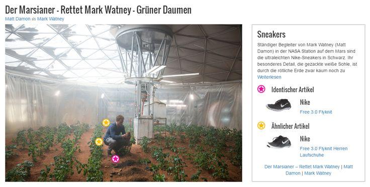 Ständiger Begleiter von Mark Watney (Matt Damon) in der NASA Station auf dem Mars sind die ultraleichten Nike-Sneakers in Schwarz. Ihr besonderes Detail, die gezackte weiße Sohle, ist durch die rötliche Erde zwar kaum noch zu erkennen, macht aber dennoch den Charme des Schuhs aus. Durch sie wirkt jedes Outfit dynamisch und jeder Look sportlich. Auch bei Watneys Outfit steuern sie seinen Kleidungsstil in Richtung Freizeit-Style. Daran, dass der Astronaut seine Freizeit lieber auf der Erde…