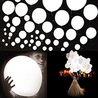 Amazon.com: 20Pcs LED Light up Balloons 12 Inch Latex Multicolor Lights Helium Balloons Christmas Halloween Wedding Decoration Birthday Party Supplies (White): Toys & Games #halloweenpartysupplies #halloweenpartygames #christmaslightdecorations