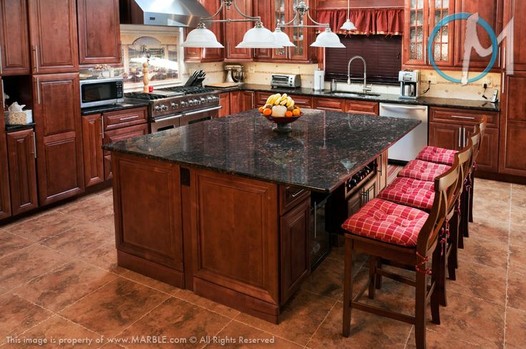 Best This Kitchen Features Tan Brown Granite On Both The Large 640 x 480
