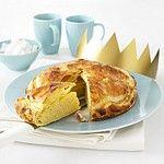 Driekoningen koek, mét verstopte boon en gouden kroontje voor de eerlijke vinder :-)