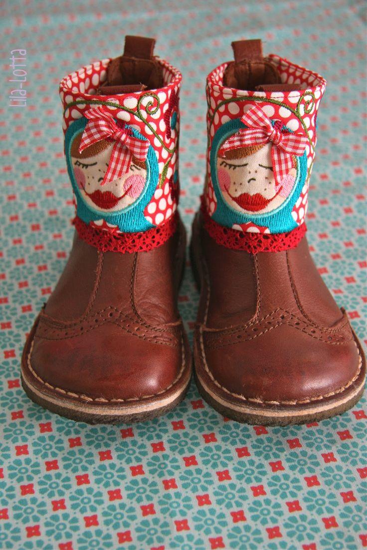 Eher unbeliebte Schuhe aufhübschen...