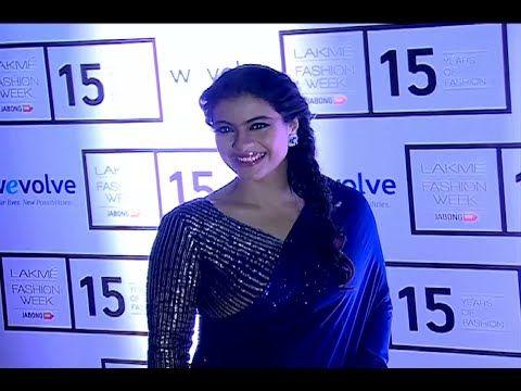 WATCH Kajol stunning beautiful in saree at Lakme Fashion Week 2015.  See the video at : http://youtu.be/w0lfzdBPXRs #kajol #lakmefashionweek2015 #lfw2015