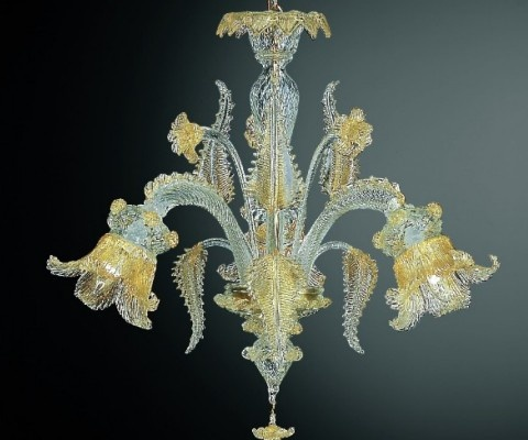 7 best venetian style chandeliers 3 4 lights images on pinterest venetian style for this classic chandelier with flowers and leafs in gold aloadofball Image collections