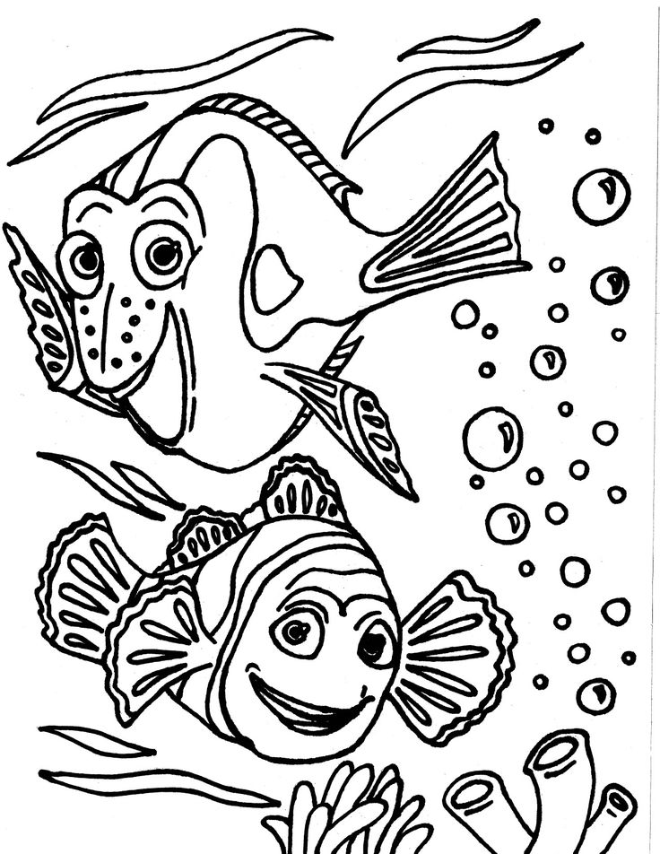 """""""Finding Nemo"""" coloring page drawn by Isabella M.O. for"""