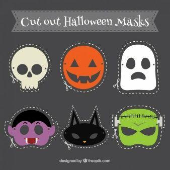 Découpez masques d'Halloween