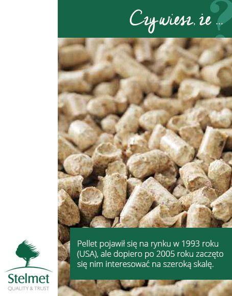 Pellet pojawił się na rynku w 1993 roku (USA), ale dopiero po 2005 roku zaczęto się nim interesować na szeroką skalę.