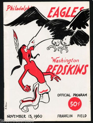 #1960 PHILADELPHIA EAGLES vs WASHINGTON REDSKINS NFL FOOTBALL PROGRAM NOV 13 on @eBay http://r.ebay.com/RWMMGa @toppscards #thehobby #collect