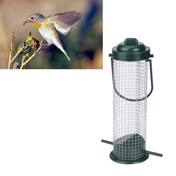 Alimentador de aves de Semillas Colgando Al Aire Libre Jardín Silvestre Ardilla Prueba Verde Pájaro Feedeer herramienta envío de la gota