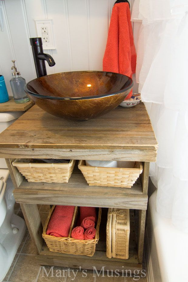 Fence Board Sink Stand from Marty's Musings
