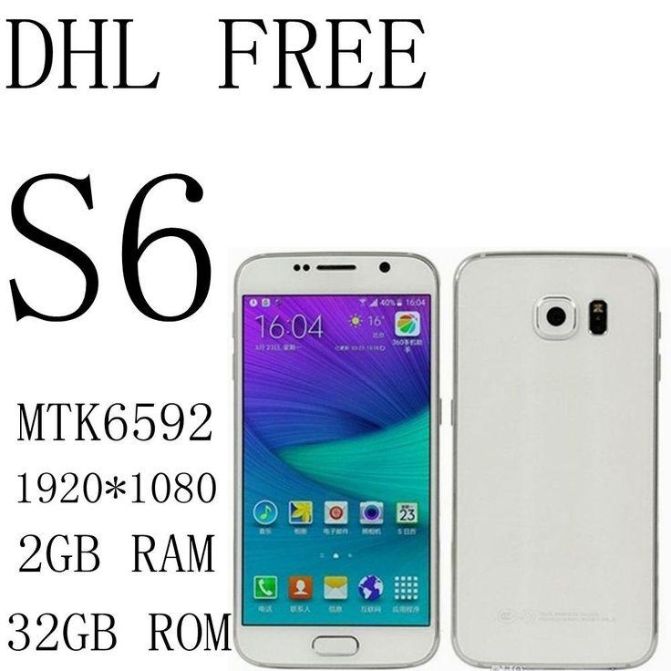 S6 DHL MTK6592 Octa core 2GB RAM 32GB ROM MTK6582 QUAD CORE 5.1inch 1920x1080 16MP 3G Show 4G LTE smartphone Cell phone
