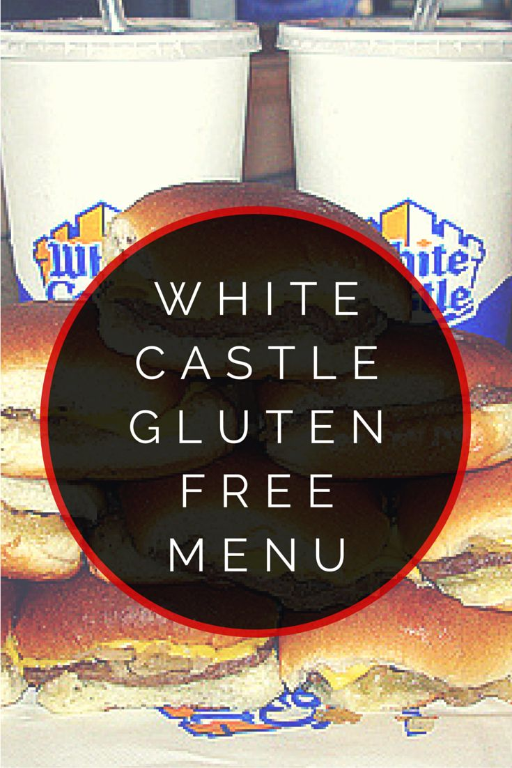 White Castle Gluten Free Menu #glutenfree