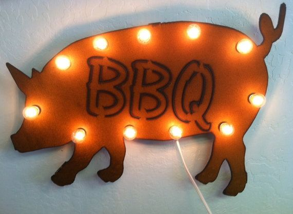 Rusted Recycled Metal Vintage inspired PIG BBQ by TheRusticBarnAZ, $119.00