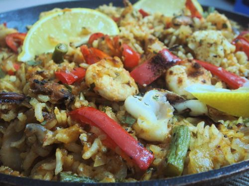 613 best malaysian cuisine images on pinterest malaysian food spanish paella is a rice dish originated from valencia south of spain this recipe is a mixed paella with chicken seafood bell pepper and long beans forumfinder Images