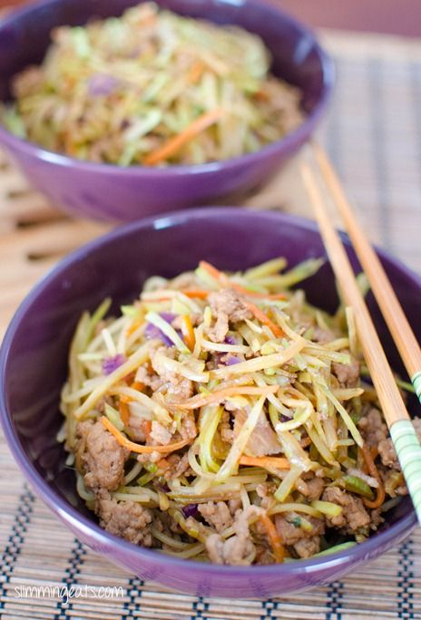 Hoisin Pork and Noodles - Dairy Free, Slimming World and Weight Watchers friendly
