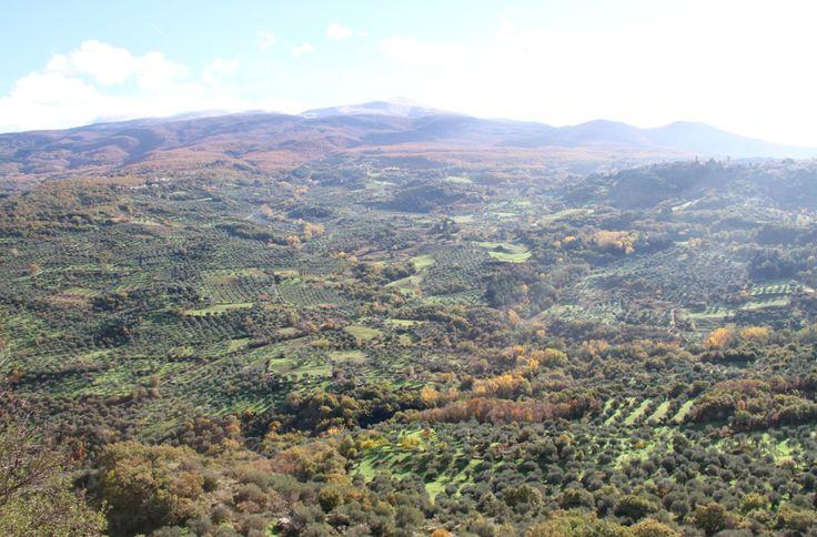 View of the Amiata from Montegiovi GR Tuscany