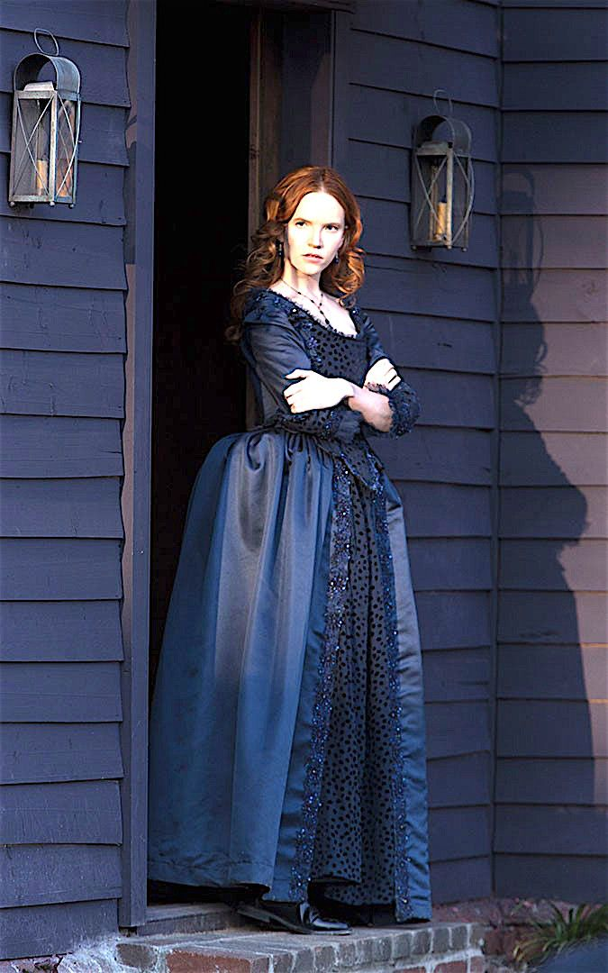 Tamzin Merchant as Anne Halle Salem...Silk dress made in our workroom