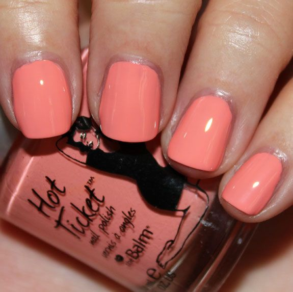 TheBalm Coral Reef-ined.jpg: Coral Reefin, Nails Colour, Thebalm Coral, Coral Colors Nails, Nails Colors, Coral Reefs In, Nails Polish, Coral Nails, Hot Ticket
