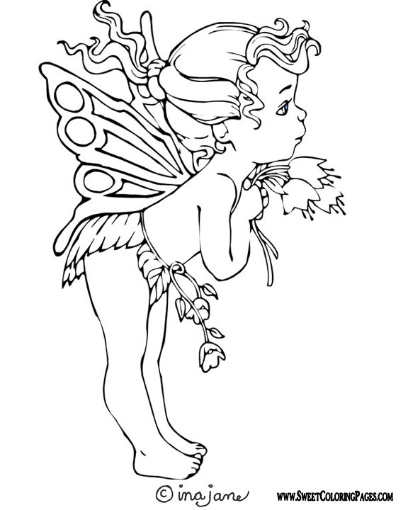 fairy coloring pages bing images