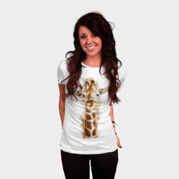 Giraffe T-shirt Design by Beart24