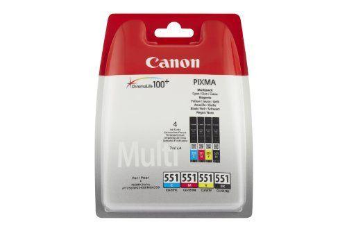 Canon – CLI-551 – Cartouche d'Encre d'Origine – Noir / Cyan / Magenta / Jaune: Description du produit Canon CLI-551 C/M/Y/BK Multipack –…