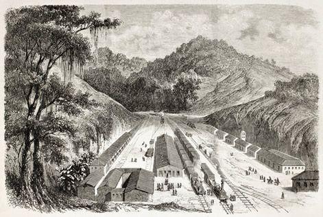 Ferrovias, um dos grandes projetos do Barão de Mauá. Na foto, Ferrovia Pedro II