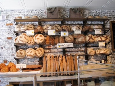 artisan bread display .... all you need is some Danish Lurpak butter and you're SET!
