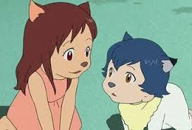 Resultado de imagen para los niños lobo ame y yuki