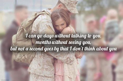 Military Love for those women and men whose spouses serve.