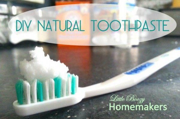 Gör egen tandkräm och vad som finns i den vanliga tandkrämen