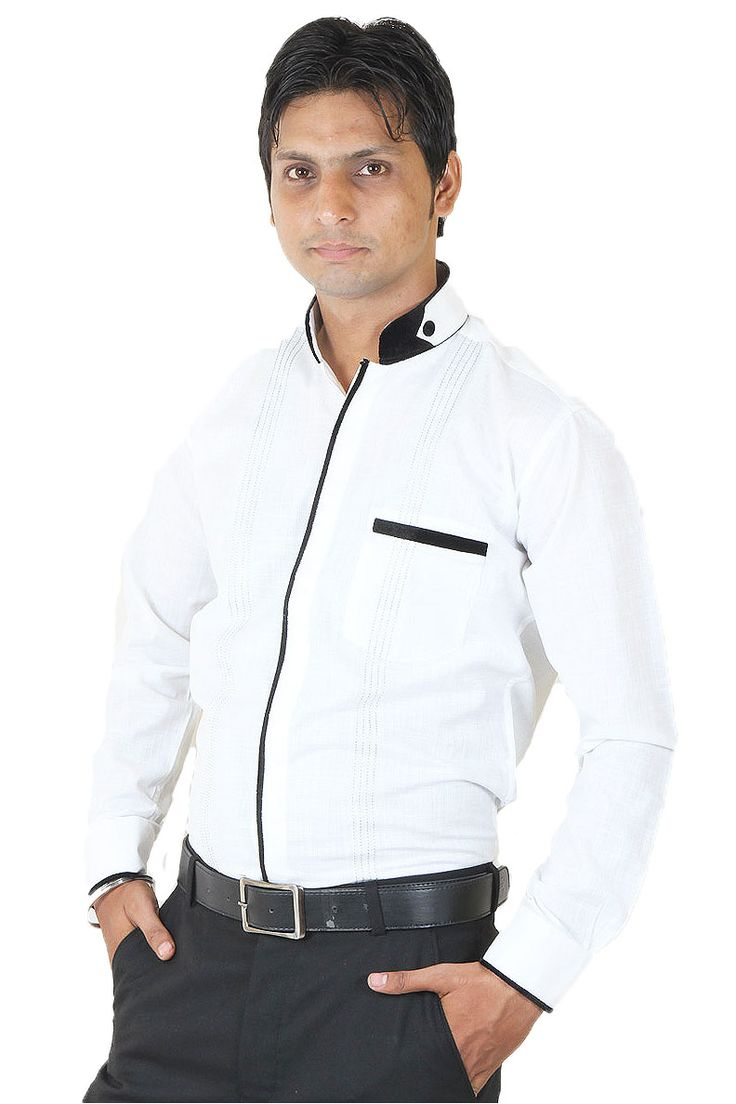 Buy SIERA White Cotton Party Wear Shirts For all Occasion Online at GetAbhi.com http://tinyurl.com/htppgd8