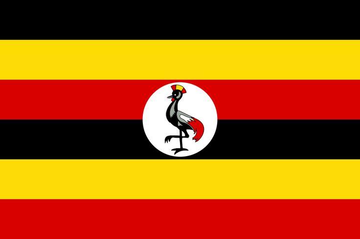 Flag of Uganda - Galeria de bandeiras nacionais – Wikipédia, a enciclopédia livre                                                                                                                                                                                 Mais